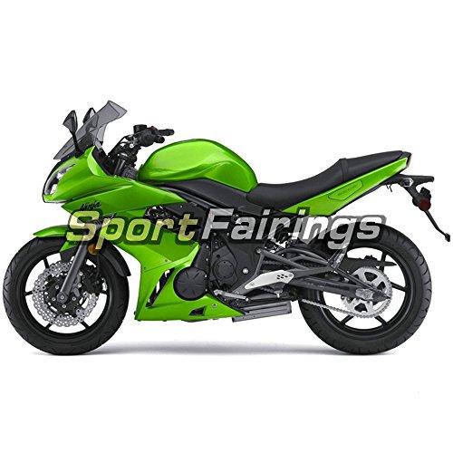 Sportfairings Plastic ABS Fairing kits For Kawasaki Ninja 650R ER-6F Year 2009 2010 2011 Full Covers Green Bodywork Cowling