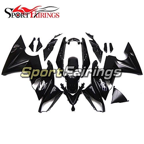 Sportfairings Plastic ABS Fairing kits For Kawasaki Ninja 650R ER-6F Year 2009 - 2011 09 10 11 Gloss Black Motorbike Cowling