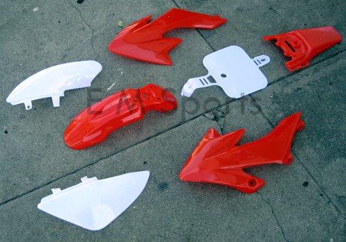Dirt Pit Bike 50cc 70cc 90cc 110cc 125cc 138cc Fairings Plastic Body Fairing Kit Parts Honda CRF50 XR50 - Red