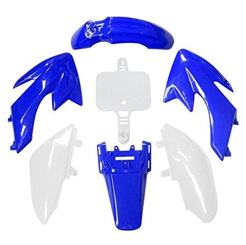 JCMOTO Plastic Fairing Kit Body Fender For Honda CRF XR XR50 CRF50 110cc 125cc Pit Dirt Bike 4Blue3White