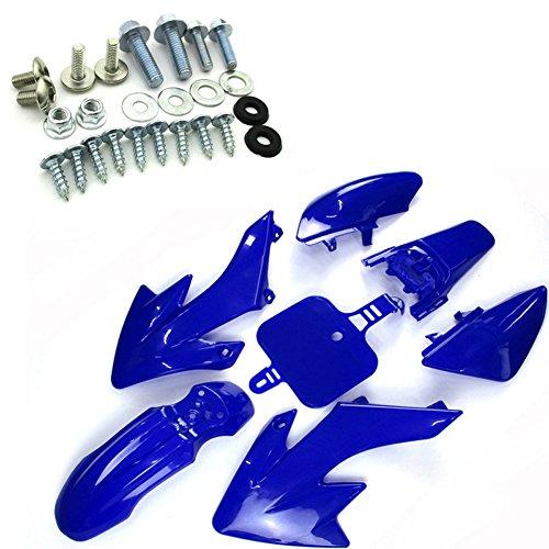 TC-Motor Blue Plastic Fender Body Fairing Kit  Complete Bolts Mounting Screws Kits For Honda XR50 CRF50 Pit Dirt Bike 50cc 70cc 90 110cc 125cc 150cc 160cc JMC YCF GPX