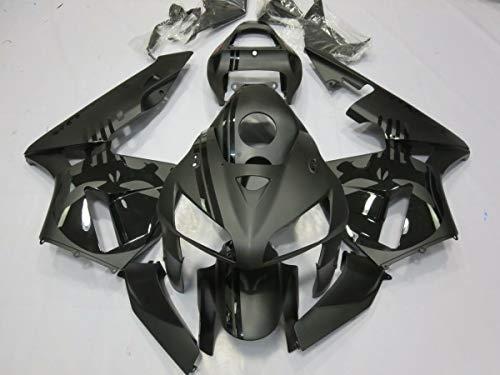 FocusAtOne Matte Black with Skull Complete Fairing Bodywork Painted ABS Plastic Injection Molding Kit wTank Cover for 2005-2006 Honda CBR 600 RR CBR600RR 600RR