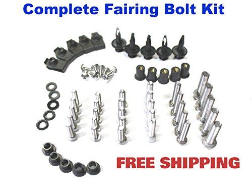Complete Motorcycle Fairing Bolt Kit Suzuki GSX-R 600  750 2008 - 2009 Body Screws Fasteners and Hardware