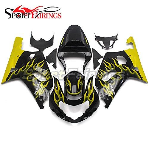 Sportfairings Motorcycle Fairing For Suzuki GSX-R 750 GSX-R 600 K1 K2 K3 GSXR600-750 2000 2001 2002 2003 Fairings Black Yellow Flames