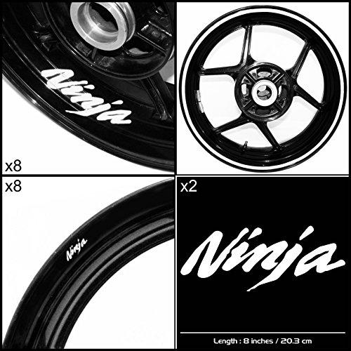 Stickman Vinyls Kawasaki Ninja Motorcycle Decal Sticker Package Gloss White Graphic Kit