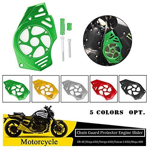 FATExpress for Kawasaki Ninja Versys Vulcan S 650 2006-2016 Motorcycle Billet CNC Aluminum Front Chain Guard Sprocket Engine Cover 2007 2008 2009 2010 2011 2012 2013 2014 2015 Green