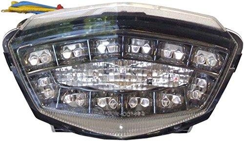 2008-2012 Kawasaki Ninja 250R Clear Integrated LED Tail Light - 905-4119