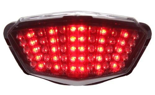 2008-2012 Kawasaki Ninja 250R Integrated Sequential LED Tail Lights Smoke Lens