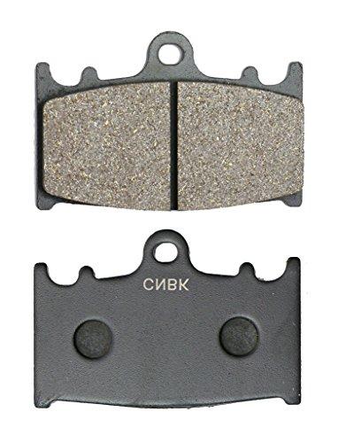 CNBK Front Right Disc Brake Pads Semi-Metallic fit KAWASAKI Street Bike ZZR1100 ZZR 1100 90 91 92 93 94 95 96 97 98 99 00 01 1990 1991 1992 1993 1994 1995 1996 1997 1998 1999 2000 2001 1 Pair2 Pads