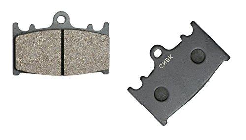 CNBK Front Right Disc Brake Pads Semi-Metallic for KAWASAKI Street Bike ZRX1200 ZRX 1200 04 05 06 07 08 09 10 11 12 13 14 15 2004 2005 2006 2007 2008 2009 2010 2011 2012 2013 2014 2015 1 Pair2 Pads