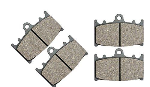 CNBK Motorcycle Resin Brake Pads Set fit KAWASAKI Street Bike ZRX1200 ZRX 1200 cc 1200cc R S 04 05 06 07 08 09 10 11 12 13 14 15 2004 2005 2006 2007 2008 2009 2010 2011 2012 2013 2014 2015 4 Pads
