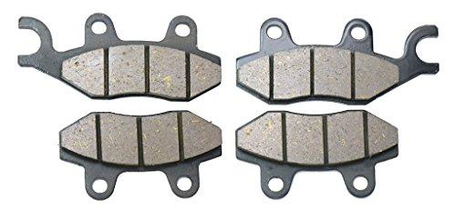 CNBK Motorcycle Semi-Metallic Brake Shoe Pads Set fit for KAWASAKI Street Bike KRT800 KRT 800 cc 800cc Teryx BEF CEF DEF 14 15 2014 2015 4 Pads