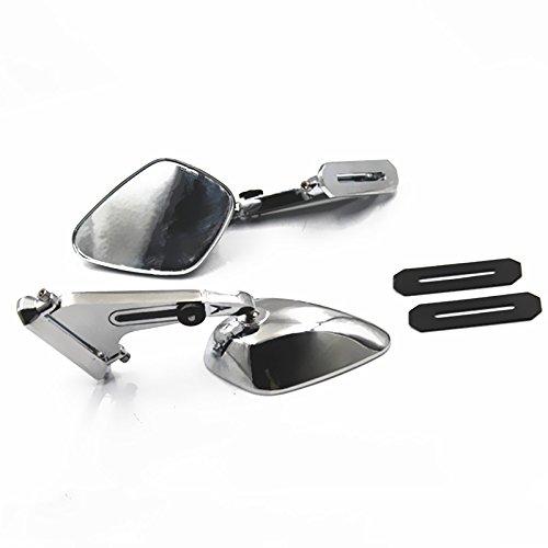 Pair Motorcycle 8mm 10mm Rear view Mirrors For Harley Honda Yamaha Suzuki Kawasaki Street Bike chrome