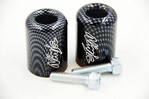 Hand Bar Ends For Kawasaki Ninja Ex250 Ex500 Ex650R Zx6R-636 Zrx1100 Carbon