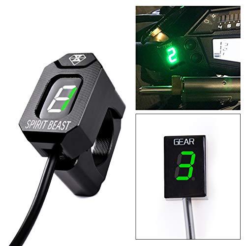 For Kawasaki Vulcan S 650 2015-2018 Vulcan 900 2006-2018 Vulcan 2000 2008-2011 Motorcycle Gear Indicator LED 1-6 Level Display Shift Light Bike Meter GreenWith Honder
