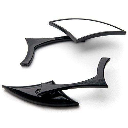 Krator Custom Rear View Mirrors Black Pair wAdapters For Kawasaki Vulcan Classic Nomad Voyager Vaquero 1700