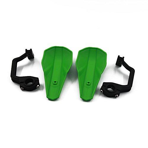 JFG RACING Green Handguards 22mm and 28mm Hand Guards Brush Bar For Motorcycle Dirt Bike Motocross Kawasaki KX65 KX85 KX125 KX250 KX500