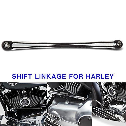Morovan Black Deep Cut Round Shifter Rod Shift Linkage for Harley FL FX black 01