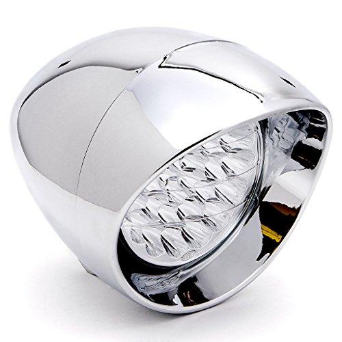 Krator 7 Chrome LED Headlight Cruiser Daytime Running and Low Beam for Yamaha V-Star Vstar 950 1100 1300 Classic Tourer