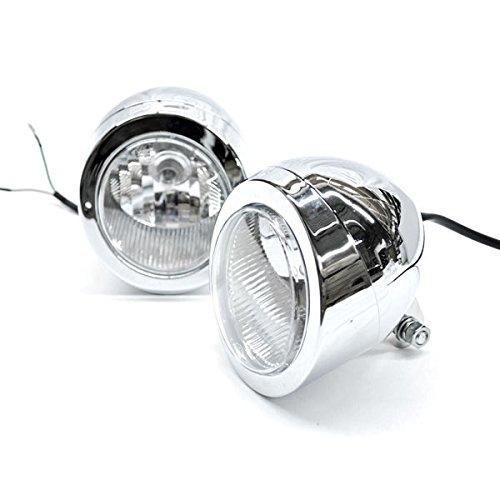 Krator Custom Chrome Passing Fog Headlight Head Light For Yamaha V-Star Vstar V Star XVS 1100 Silverado