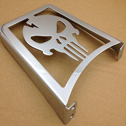 HK MOTO Chrome Skull Sissy Bar Luggage Rack For Harley Davidson Sportster Xl883C XL883R Xl1200R XL1200C XL1200S Xlh883 Xlh1200 883 1200