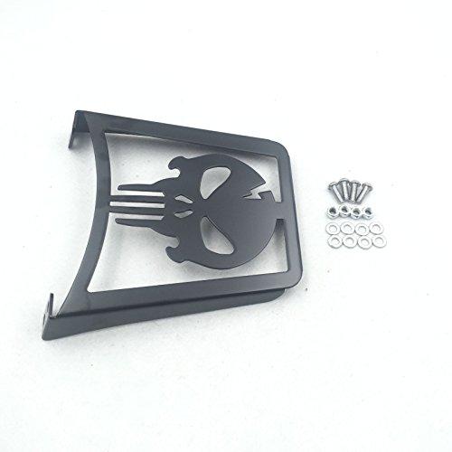 HK MOTO Black Skull Sissy Bar Luggage Rack For Harley Davidson Sportster Xl883C XL883R Xl1200R XL1200C XL1200S Xlh883 Xlh1200 883 1200