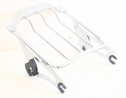 Detachables Two up Air Wing Luggage Rack for Harley Davidson Touring Models 2009 - 2015