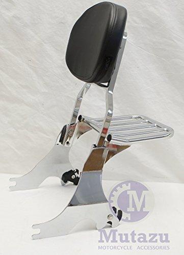 Mutazu 283900057 Harley Sportster Detachable Sissy Bar With Luggage Rack