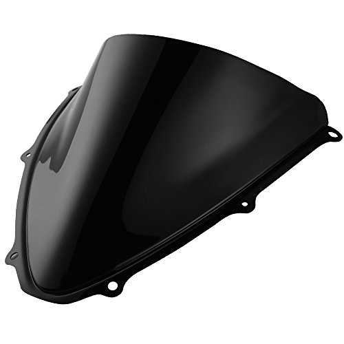 Double Bubble Windscreen Windshield for Suzuki GSXR600 GSXR750 K6 2006 2007 Black