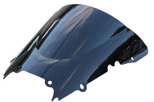 MotorToGo Double Bubble Smoke Windscreen Tinted Dark Windshield for Yamaha YZF R6 2001