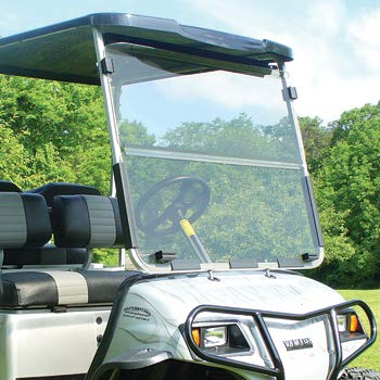 Buggies Unlimited Yamaha G22  GMAX Fold Down Windshield Clear