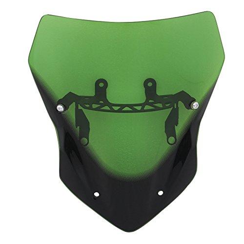 Green Windshield Windscreen W Mounting Bracket AIR Deflector for Kawasaki Z900 2017-up