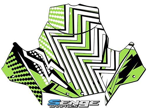 Senge Graphics 2018 Arctic Cat ZR 120200 Mayhem Green Windshield stock size Graphics kit