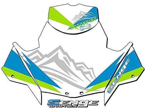 Senge Graphics 2018 Arctic Cat ZR 120200 Savage Green Windshield stock size Graphics kit
