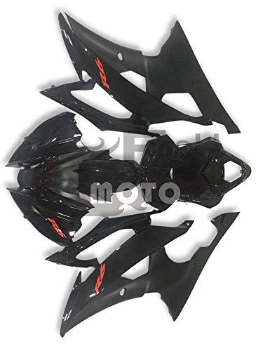 FlashMoto Fairings for Yamaha R6 YZF-600 2008 2009 2010 2011 2012 2013 2014 2015 Painted Motorcycle Injection ABS Plastic Bodywork Fairing Kit Set Black