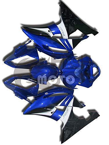 FlashMoto Fairings for Yamaha R6 YZF-600 2008 2009 2010 2011 2012 2013 2014 2015 Painted Motorcycle Injection ABS Plastic Bodywork Fairing Kit Set Blue Black