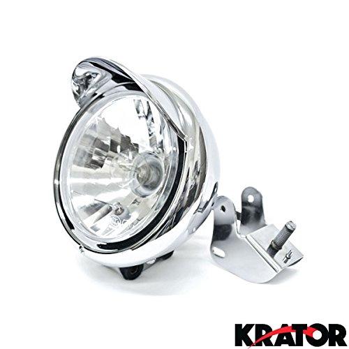 Krator Motorcycle Custom Chrome Headlight Head Light For Harley Davidson Road King Custom Classic