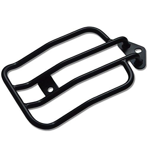 TJMOTO 10 Black Solo Seat Luggage Rack For Harley-Davidson Sportster XL883 1200 2004-2015