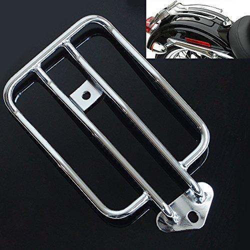 TJMOTO 10 Chrome Solo Seat Luggage Rack For Harley-Davidson Sportster XL883 1200 2004-2015