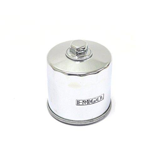 Suzuki AN 650 Burgman 02-16 Chrome Micro-Glass Premium Oil Filter 17mm Nut by Niche Cycle Supply
