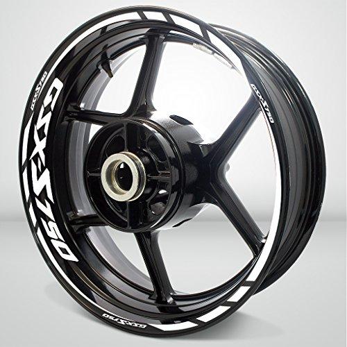 Gloss White Motorcycle Rim Wheel Decal Accessory Sticker for Suzuki GSXS 750