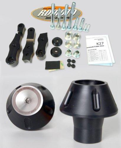 Suzuki GSX 750 Inazuma 1997-2002 RD Moto Crash Frame Sliders Protectors With Full Mounting Kit PHV2 BlkSil
