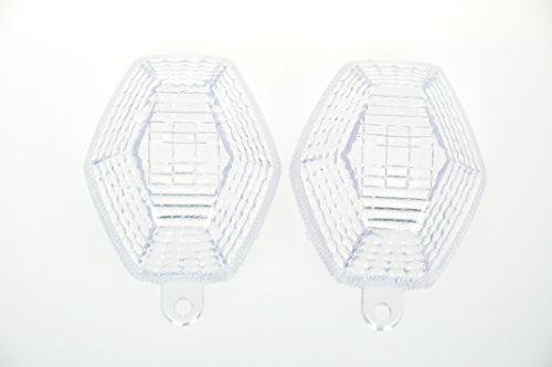 Topzone Moto Clear Motorcycle Indicators Turn Signal Lens For Suzuki 2001-2002 GSXR600 2001-2002 GSXR 1000 2000-2003 GSXR750 2001-2004 Bandit 2003-2009 SV650 2003-2008 SV1000
