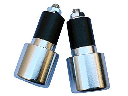 Chrome Silver 78 CNC Aluminum Handlebar End Weights Caps Plugs Sliders for 2009 Suzuki SV650