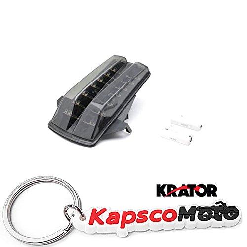 Krator 2003-2009 Suzuki SV650 SV1000 LED TailLights Brake Tail Lights with Integrated Turn Signals Indicators Smoke Motorcycle  KapscoMoto Keychain