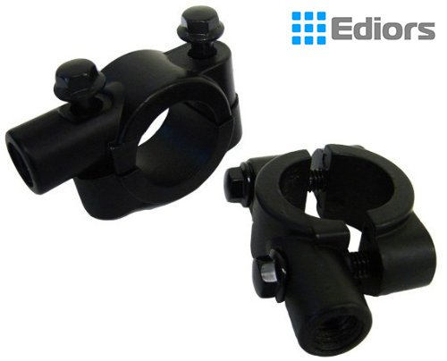 8MM  10MM 78 Universal Motorcycle Black Aluminum Handlebar Mirror Mount Clamp X2 8MM