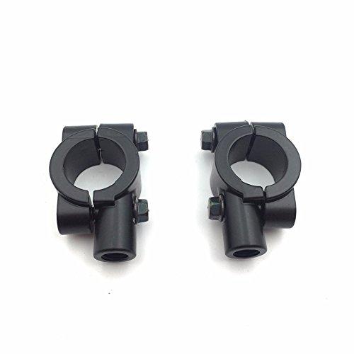HTT Group Black 1 25mm Motorcycle HandleBar 10mm Mirror Thread Mount Holder Clamp Adaptor