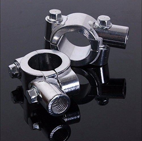 HTT Group Chrome 1 25mm Motorcycle HandleBar 10mm Mirror Thread Mount Holder Clamp Adaptor