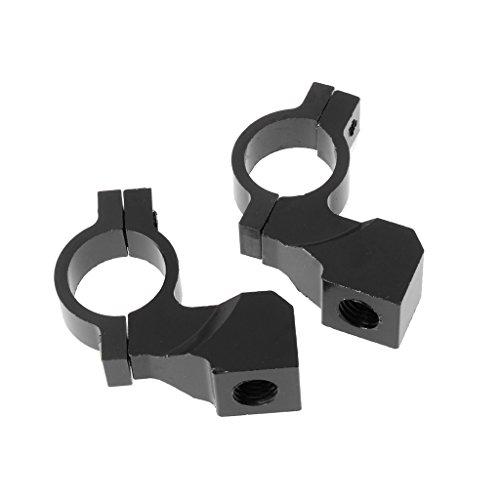 Bottone 1 Pair 10mm039 Motorcycle Handlebar Rearview Mirror Holder Clamp Adaptor Black