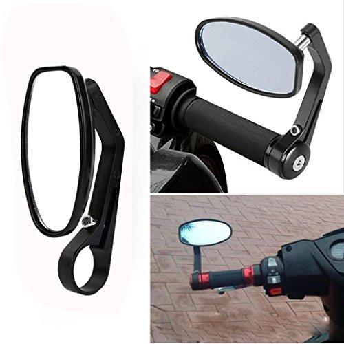 Ec Motorcycle Handlebar Rearview Mirror Universal Rear Mirrors Motorcycle Handlebar Scooters Rearview Side View Mirrors Black